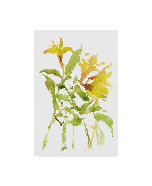 "Trademark Global Melissa Wang Watercolor Lilies I Canvas Art - 37"" x 49"""