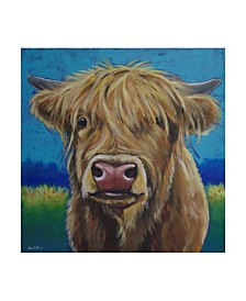 "Hippie Hound Studios Cow Fergus Scottish Higland Cow Canvas Art - 27"" x 33"""