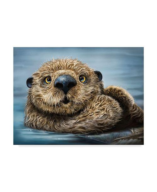 "Trademark Global Patrick Lamontagne Otter Totem Canvas Art - 37"" x 49"""