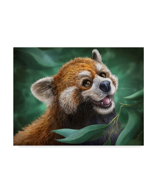 "Trademark Global Patrick Lamontagne Red Panda Totem Canvas Art - 20"" x 25"""