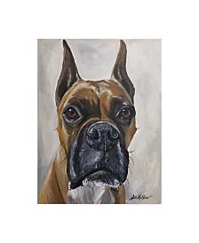 """Hippie Hound Studios Boxer Kyleigh Canvas Art - 37"""" x 49"""""""