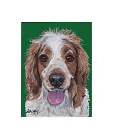 """Hippie Hound Studios Spaniel 1 Canvas Art - 37"""" x 49"""""""