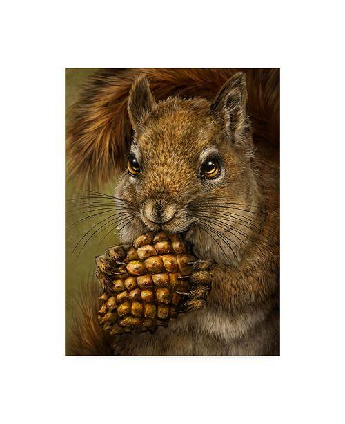 "Trademark Global Patrick Lamontagne Squirrel Totem Canvas Art - 20"" x 25"""