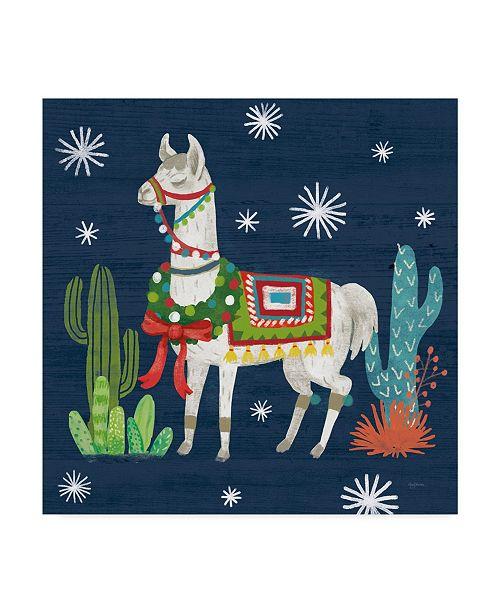 "Trademark Global Mary Urban Lovely Llamas V Christmas Canvas Art - 15"" x 20"""