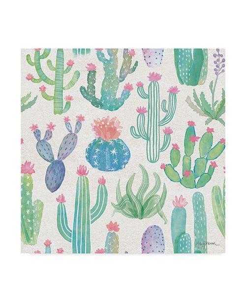 "Trademark Global Mary Urban Bohemian Cactus Step 01A Canvas Art - 15"" x 20"""