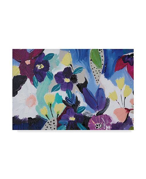 "Trademark Global Joan E. Davis Happy Flower Bar I Canvas Art - 37"" x 49"""