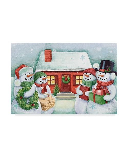 "Trademark Global Mary Urban Classic Snowmen III Canvas Art - 20"" x 25"""