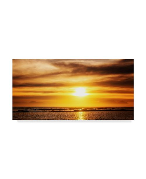 "Trademark Global Pixie Pics Sunset Coastline Canvas Art - 37"" x 49"""