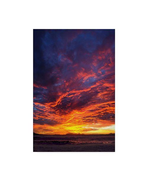 "Trademark Global Pixie Pics Red Clouds Under Hills II Canvas Art - 20"" x 25"""