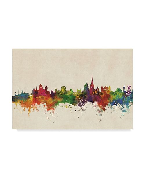 "Trademark Global Michael Tompsett Lausanne Switzerland Skyline Canvas Art - 20"" x 25"""