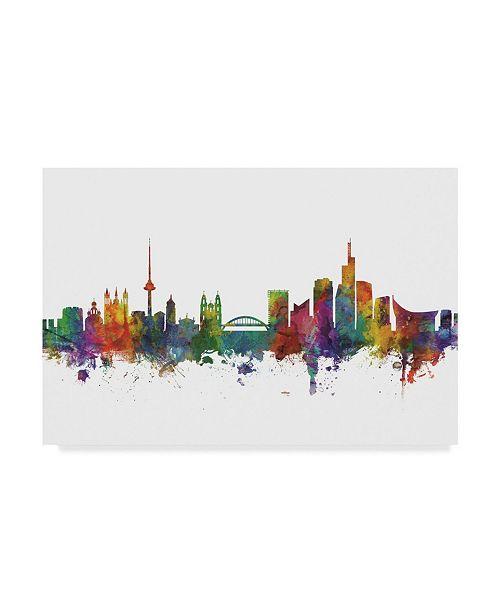 """Trademark Global Michael Tompsett Vilnius Lithuania Skyline II Canvas Art - 15"""" x 20"""""""