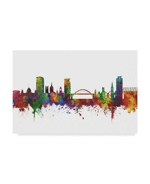 "Trademark Global Michael Tompsett Sunderland England Skyline II Canvas Art - 37"" x 49"""