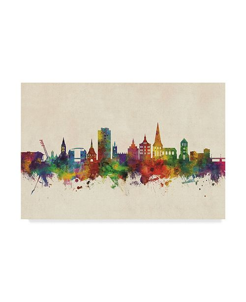 "Trademark Global Michael Tompsett Rostock Germany Skyline Canvas Art - 20"" x 25"""
