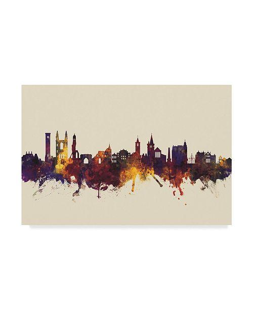 "Trademark Global Michael Tompsett St Andrews Scotland Skyline III Canvas Art - 37"" x 49"""