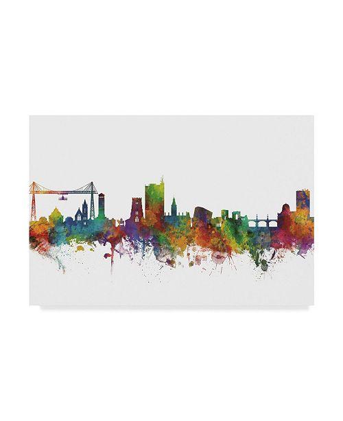 "Trademark Global Michael Tompsett Newport Wales Skyline II Canvas Art - 37"" x 49"""