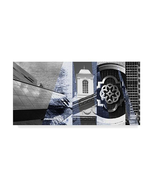 "Trademark Global Sisa Jasper Architecture Collage I Canvas Art - 15"" x 20"""
