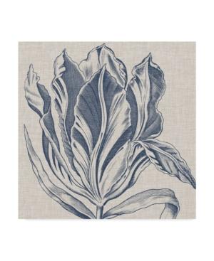 "Trademark Global Vision Studio Indigo Floral On Linen I Canvas Art - 20"" X 25"" In Multi"