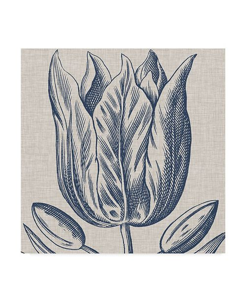 "Trademark Global Vision Studio Indigo Floral on Linen VI Canvas Art - 27"" x 33"""