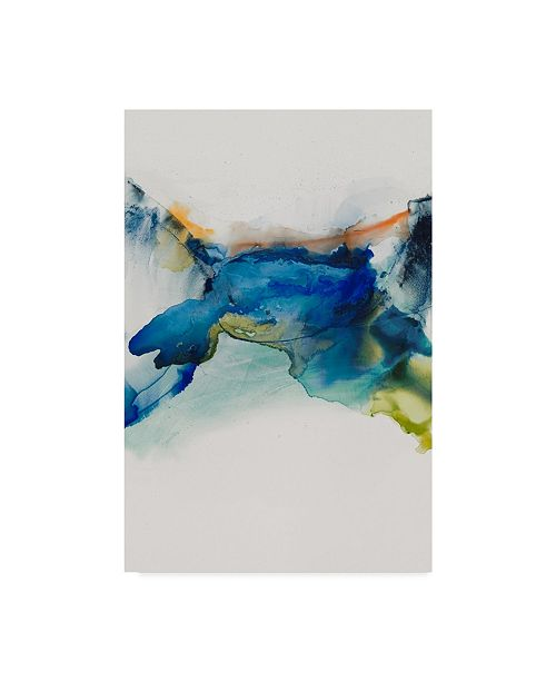"Trademark Global Sisa Jasper Abstract Terrain II Canvas Art - 20"" x 25"""