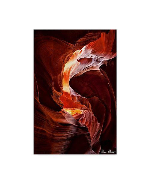 "Trademark Global David Drost Sun Shining Through Canyon IV Canvas Art - 15"" x 20"""