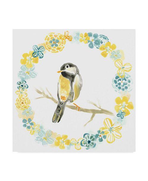 """Trademark Global June Erica Vess Solo Songbird II Canvas Art - 27"""" x 33"""""""