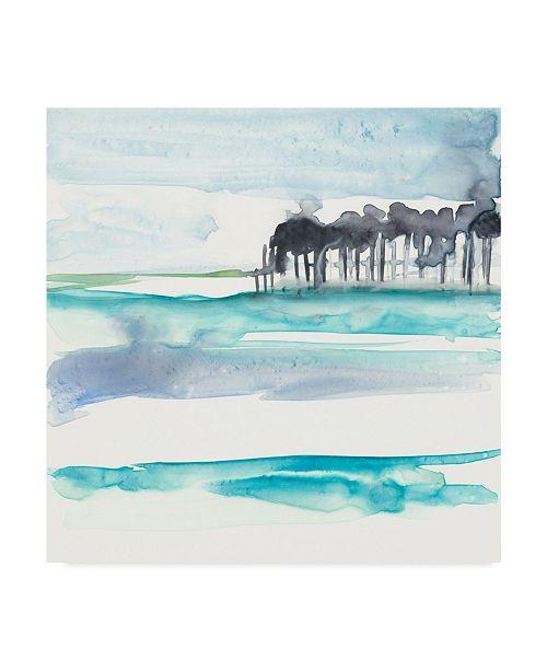 "Trademark Global Jennifer Goldberger Mountains to Sea VIII Canvas Art - 27"" x 33"""