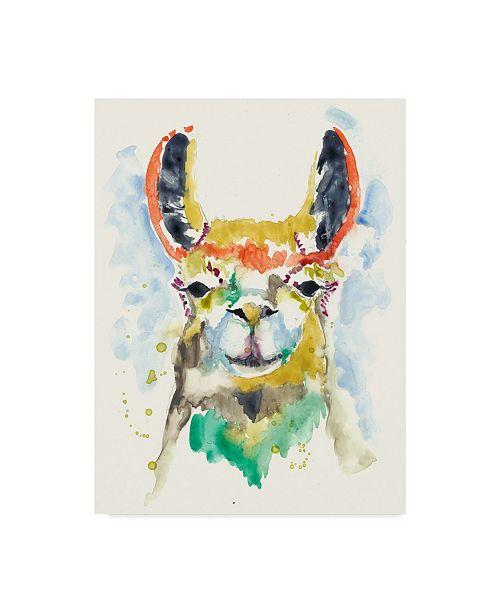 "Trademark Global Jennifer Goldberger Hifi Llama II Canvas Art - 37"" x 49"""