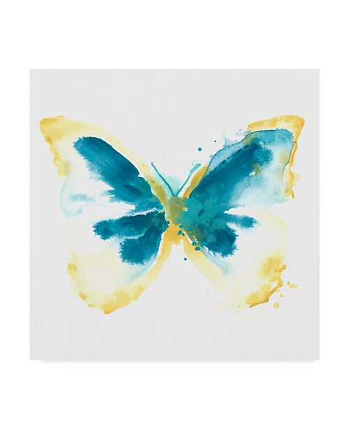 "Trademark Global June Erica Vess Butterfly Traces III Canvas Art - 20"" x 25"""