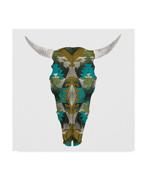"Trademark Global Studio W Day of the Dead Skull Mount I Canvas Art - 27"" x 33"""