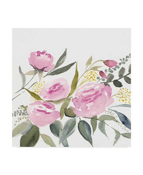 "Trademark Global Victoria Borges Rosebud Watercolor I Canvas Art - 15"" x 20"""