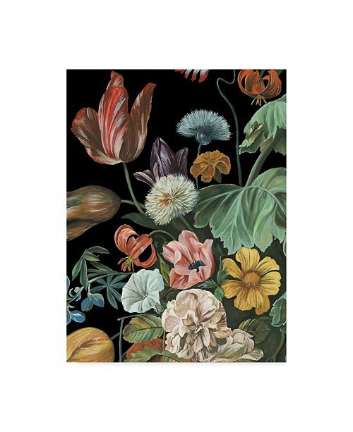 "Trademark Global Melissa Wang Baroque Floral I Canvas Art - 15"" x 20"""