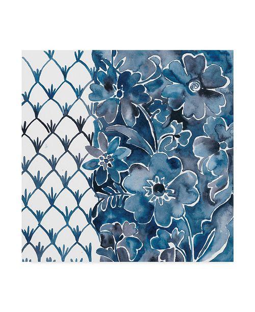 "Trademark Global Chariklia Zarris Cobalt Garden III Canvas Art - 27"" x 33"""