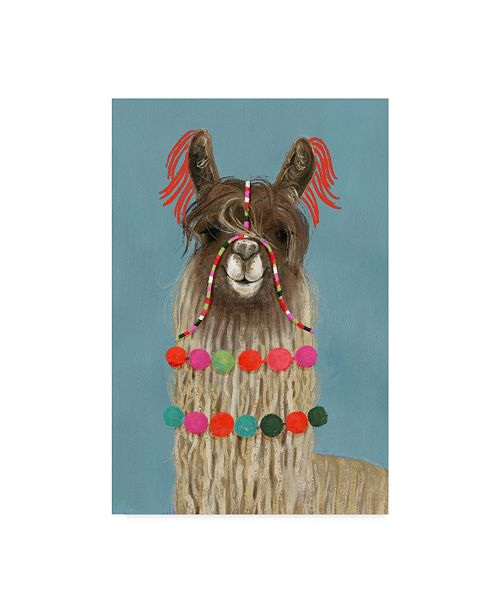"Trademark Global Victoria Borges Adorned Llama IV Canvas Art - 20"" x 25"""