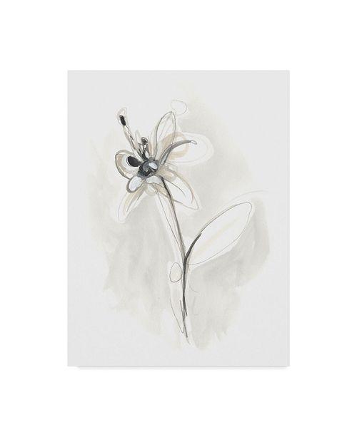 "Trademark Global June Erica Vess Neutral Floral Gesture IX Canvas Art - 37"" x 49"""