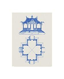 "Vision Studio Pagoda Design II Canvas Art - 37"" x 49"""
