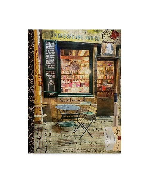 "Trademark Global Sandy Lloyd Blue Paris Bistro II Canvas Art - 20"" x 25"""