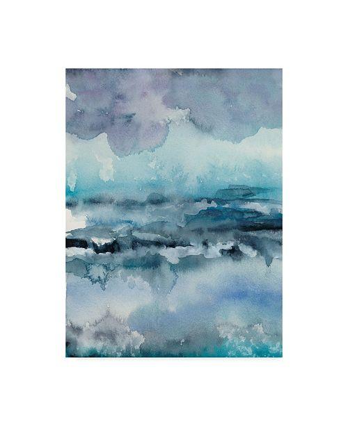 "Trademark Global Chariklia Zarris Blue Tide I Canvas Art - 15"" x 20"""