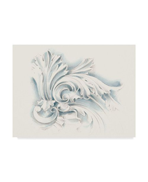 "Trademark Global Ethan Harper Acanthus Ornament II Canvas Art - 37"" x 49"""