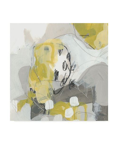 "Trademark Global June Erica Vess Citron Mist IV Canvas Art - 15"" x 20"""