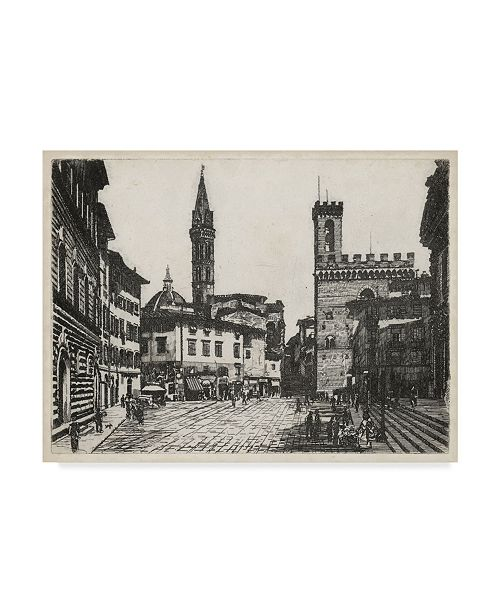 "Trademark Global Unknown Scenes in Firenze II Canvas Art - 20"" x 25"""