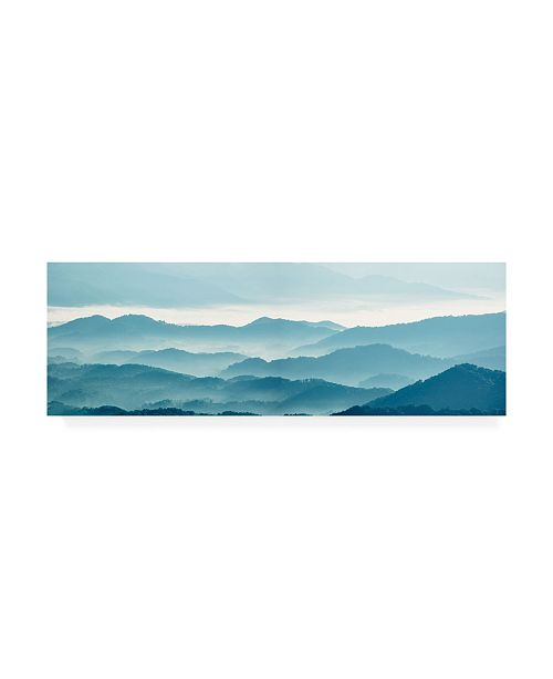 "Trademark Global James Mcloughlin Misty Mountains X Canvas Art - 37"" x 49"""