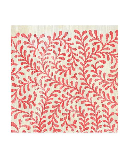 """Trademark Global June Erica Vess Weathered Patterns in Red III Canvas Art - 27"""" x 33"""""""