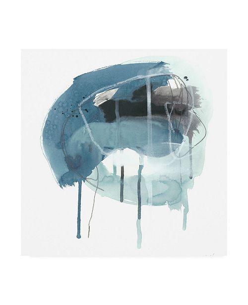 "Trademark Global June Erica Vess Incidental Indigo IV Canvas Art - 15"" x 20"""