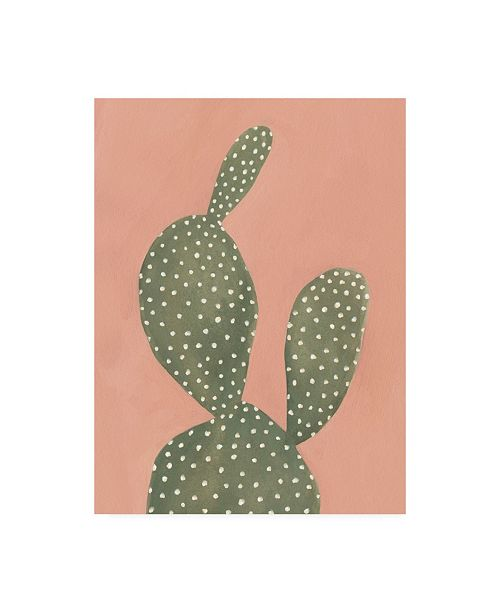 "Trademark Global Emma Scarvey Coral Cacti I Canvas Art - 20"" x 25"""