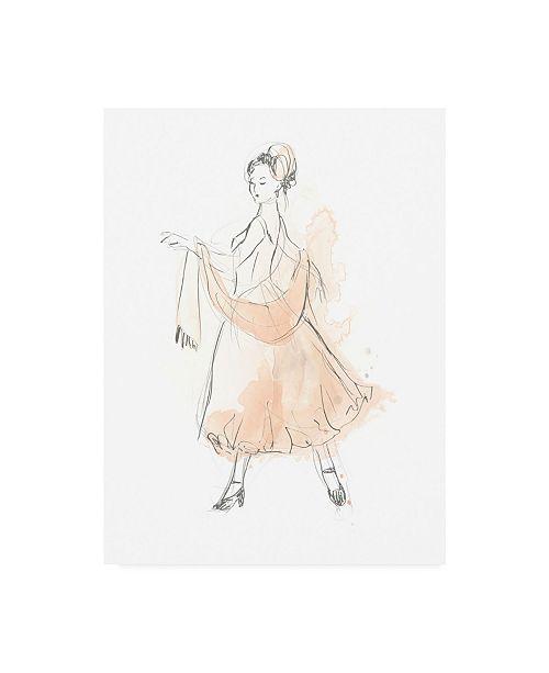 "Trademark Global June Erica Vess Blush and Grey Fashion IV Canvas Art - 37"" x 49"""