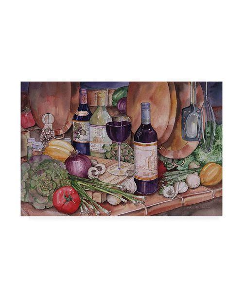"Trademark Global Kathleen Parr Mckenna Gourmet Night Canvas Art - 37"" x 49"""