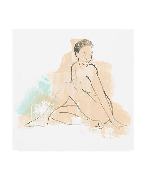 """Trademark Global June Erica Vess Color Block Figure II Canvas Art - 15"""" x 20"""""""