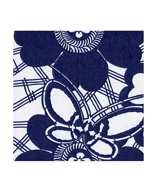 "Trademark Global Vision Studio Indigo Floral Katagami I Canvas Art - 15"" x 20"""