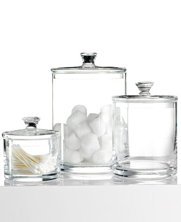 Hotel collection glass jar collection only at macy 39 s for Hotel bathroom supplies