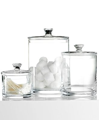 hotel collection large glass jar created for macys - Bathroom Jar